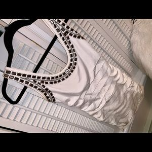 Forever 21 white dress with beautiful beading